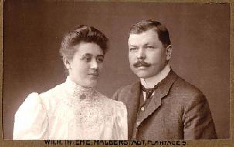 Dr.Walter Krienitz mit seiner Ehefrau im Jahr 1906 Foto: Mit freundlicher Genehmigung der Geschwister Häfner