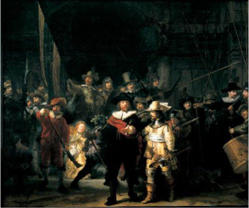 Rembrandt van Rijn: Die Nachtwache, 1642,Rijksmuseum, Amsterdam Foto: NBTC