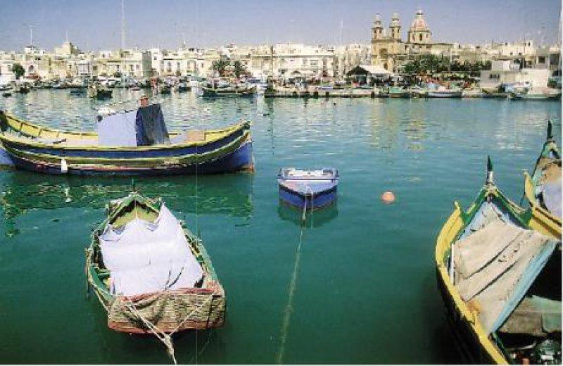 Luzzu-Fischerboote im Hafen von Marsaxlokk. Fotos: Trudy Thalheimer