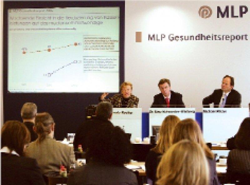 Präsentation der Ergebnisse in Berlin: MLP und Allensbach befragten rund 2 000 Bundesbürger. Foto: MLP AG