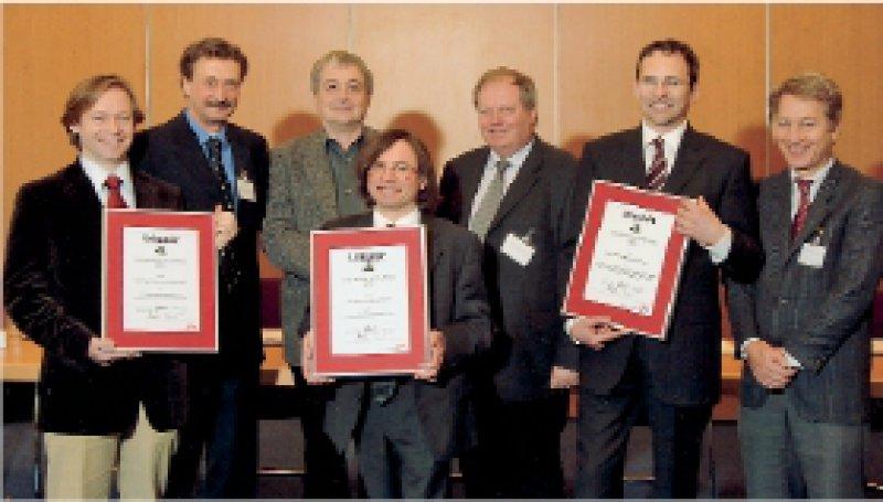 Dr. Stefan Höfer, Prof. Thomas Kohlmann, Prof. Elmar Brähler, Prof. Michael Koller, Prof. Franz Porzsolt, Priv.-Doz. Dr. Michael Franz sowie Johannes Clouth, Lilly Deutschland (von links) Foto: Lilly 2006