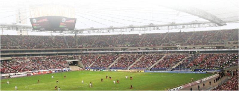 Im neuen FIFA-WM-Stadion werden fünfWeltmeisterschaftsspiele stattfinden. Die moderne Commerzbank Arena, die im vergangenen Jahr eröffnet wurde, bietet rund 50 000 Zuschauern Platz.