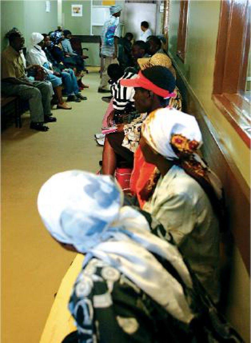 Das Princess Marina Hospital in der Hauptstadt Gaborone ist das größte des Landes. Angegliedert ist eine der weltgrößten Aids-Ambulanzen. Foto: picture alliance/epa