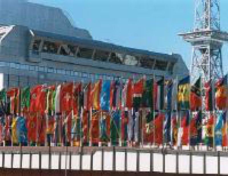 Einer der Versammlungsorte zur Kundgebung am 15. Mai: das ICC in Berlin Foto: ICC