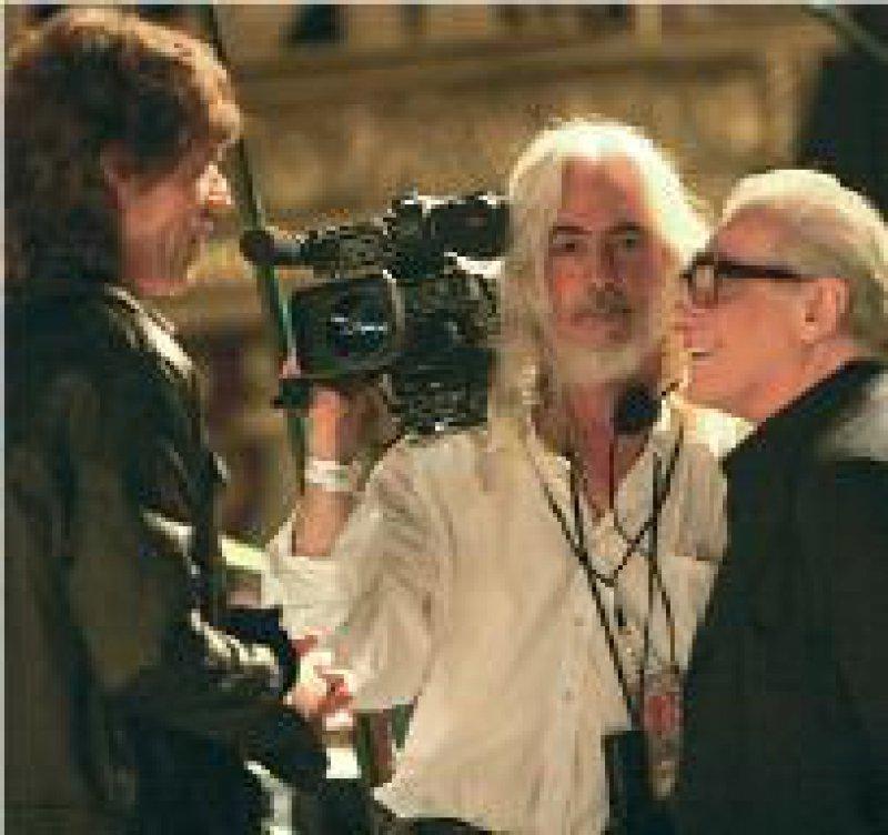 Ein ungewöhnliches Filmprojekt – Martin Scorsese (rechts), Chefkameramann Robert Richardson (Mitte) und Mick Jagger im altehrwürdigen Beacon Theater in New York