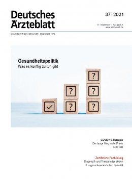Deutsches Ärzteblatt 37/2021