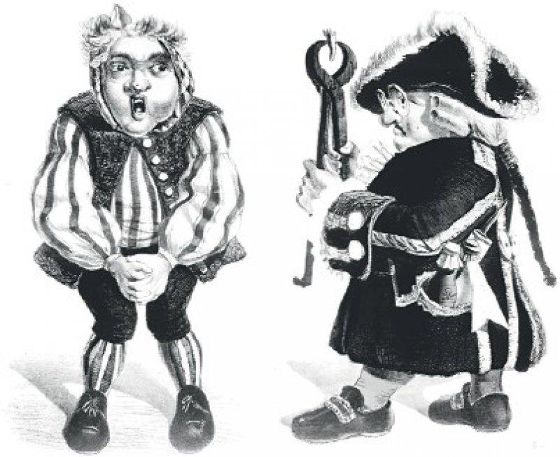 Doktor Eisenbarth, Karikatur um 1840. Eisenbarth wurde als gewinnsüchtiger und prahlender Doktor dargestellt, der viele Patienten mit seinen rauen Methoden zu Tode gebracht haben soll. Foto: Picture-Alliance akg-Images