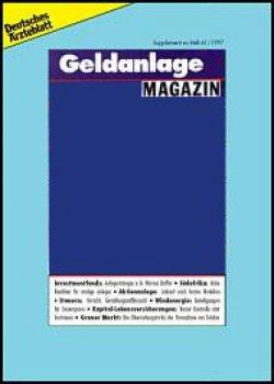 Deutsches Ärzteblatt 20/1996 SUPPLEMENT: Geldanlage