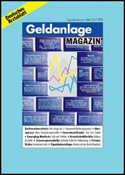 Deutsches Ärzteblatt 13/1998 SUPPLEMENT: Geldanlage