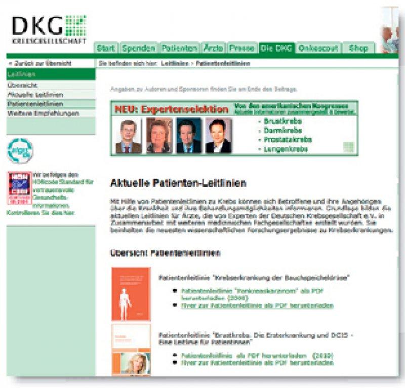 www.krebsgesellschaft.de/patientenleitlinien