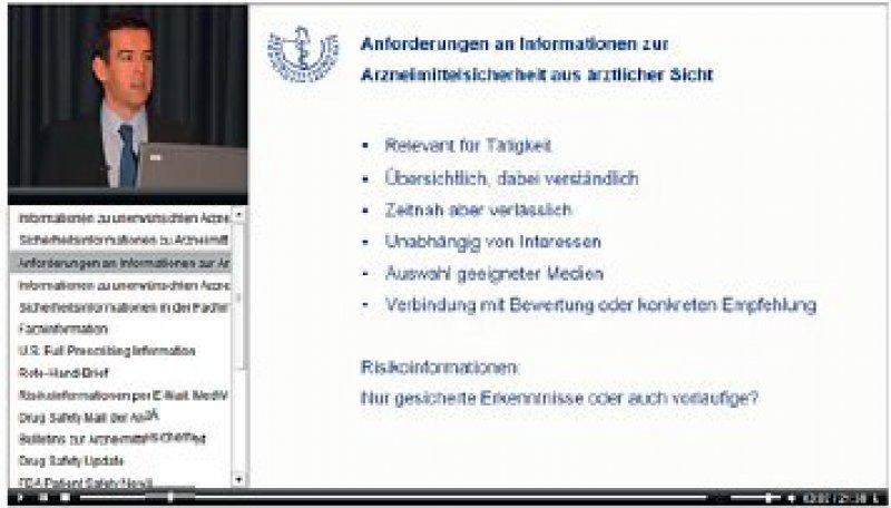 Beispiel auf der Website der Bundesärztekammer unter www.baek.de