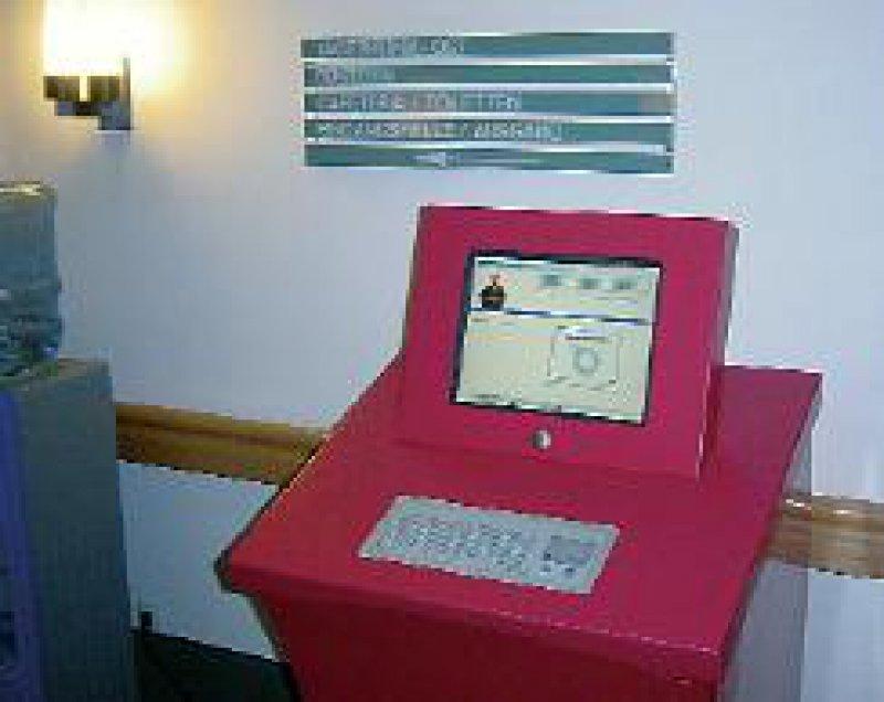 Abbildung 2: Das Info-Terminal an der Herzzentrum Leipzig GmbH