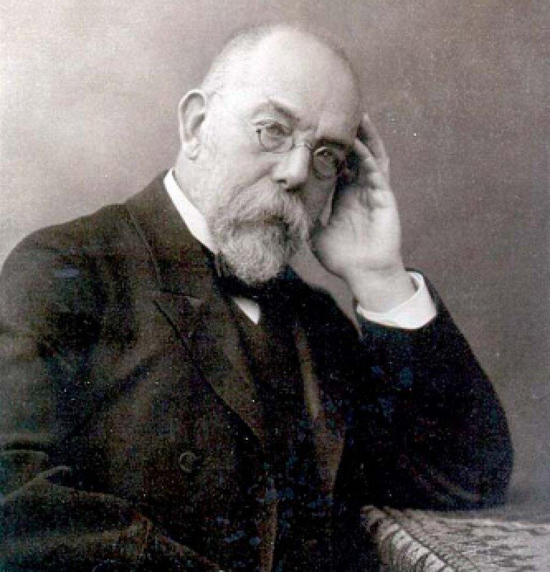 Robert Koch (11. Dezember 1843 bis 27. Mai 1910) gilt als der Begründer der modernen Bakteriologie und Klinischen Infektiologie sowie zum Teil auch der Tropenmedizin. 1876 gelang es ihm, erstmals den Erreger des Milzbrands in Kultur zu vermehren und dessen Rolle bei der Entstehung der Krankheit nachzuweisen. 1882 entdeckte er den Erreger der Tuberkulose und entwickelte später das Tuberkulin. Fotos: Wikipedia