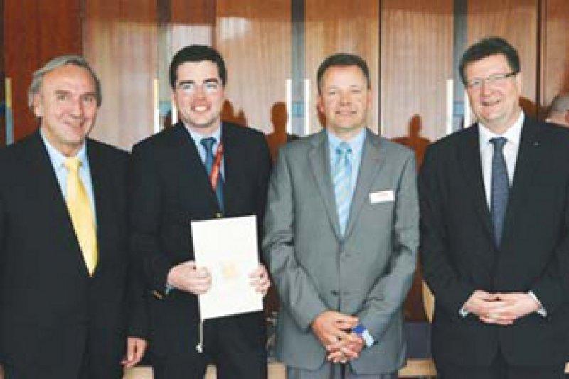 Friedrich W. Mohr, Jan-Christian Reil, Wilfried Brandherm und Michael Böhm (von links). Foto: privat