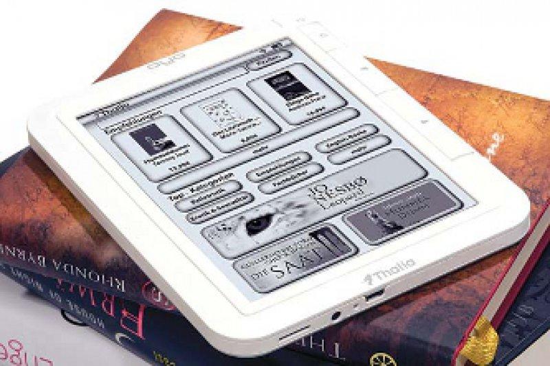 Die Buchhandelskette Thalia stellt bei der Frankfurter Buchmesse ein eigenes elektronisches Lesegerät vor, den E-Reader Oyo. Foto: Thalia