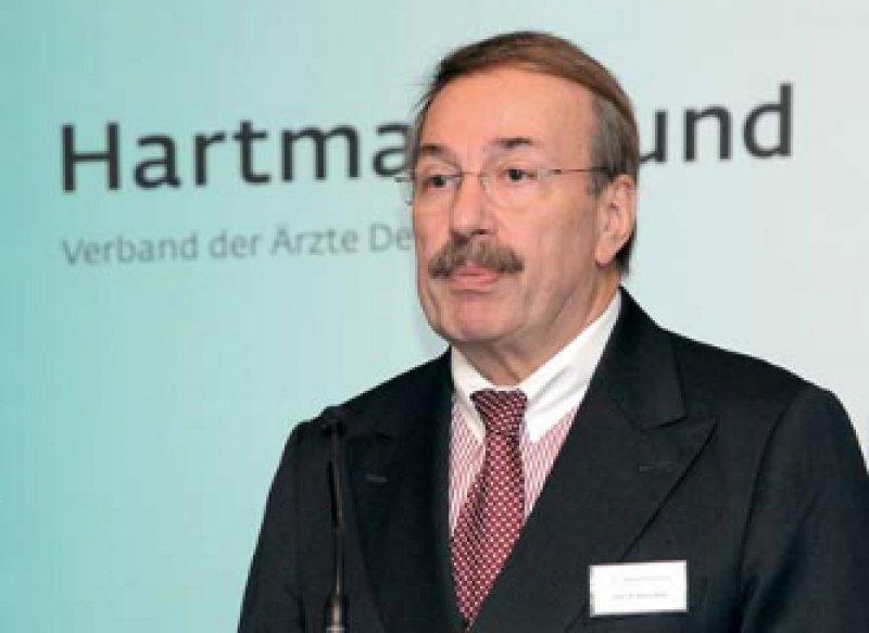 """""""Die Politik muss wieder zum Arztberuf einladen."""" Kuno Winn, Hartmannbund-Vorsitzender, Foto: Reinhold Schlitt"""