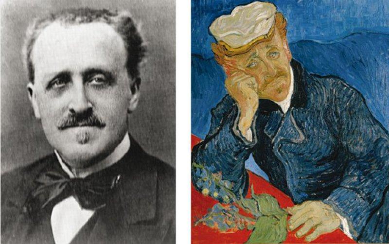 """Vincent van Gogh porträtierte seinen Arzt, Dr. Gachet, mehrmals und war ein """"Freund des Hauses"""".Fotos: picture alliance/akg, dpa"""