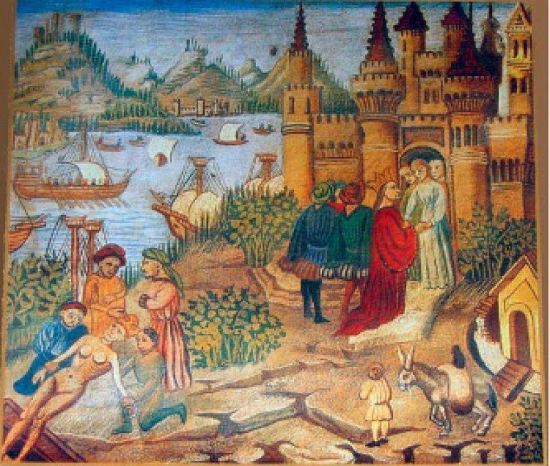Die Schule von Salerno aus dem Kanon des Avicenna: Der persische Gelehrte verfasste sein Werk Anfang des elften Jahrhunderts. Foto: Wikipedia