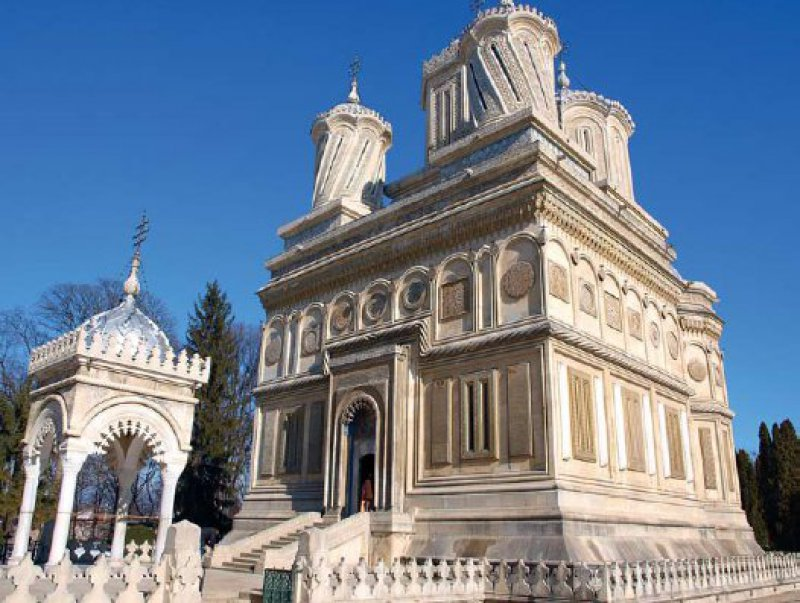Rumäniens berühmtes Gebäude: Die Kathedrale von Curtea de Argeş stammt aus dem 16. Jahrhundert. Foto: Birgit Nolte-Schuster