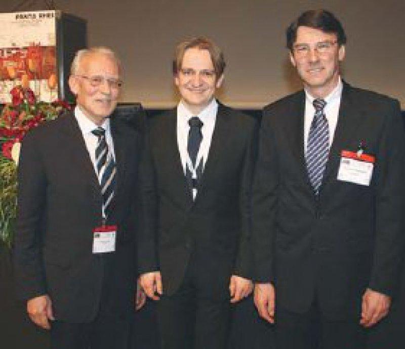 Hellmut Oelert, Markus Krane und Friedhelm Beyersdorf (von links) Foto: Deutsche Herzstiftung