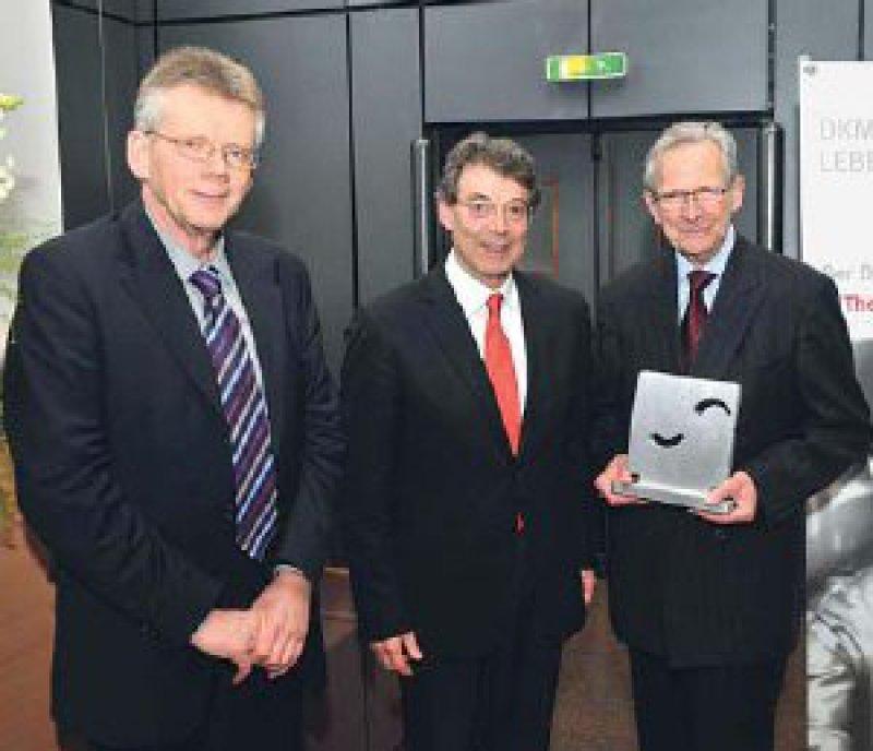 Thomas Klingebiel, Dieter Hoelzer und Theodor Fliedner (von links). Foto: DKMS
