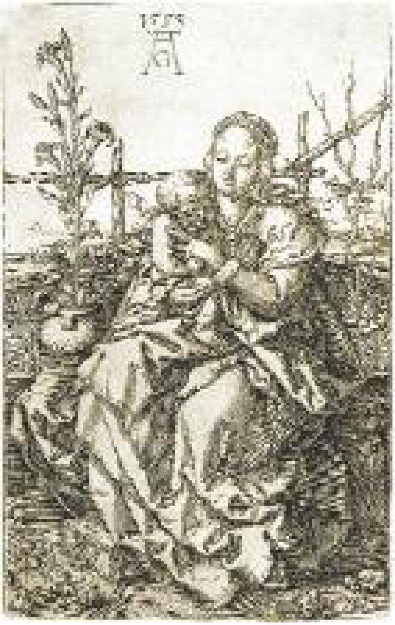 Ornament mit weiblichem Triton und Kind