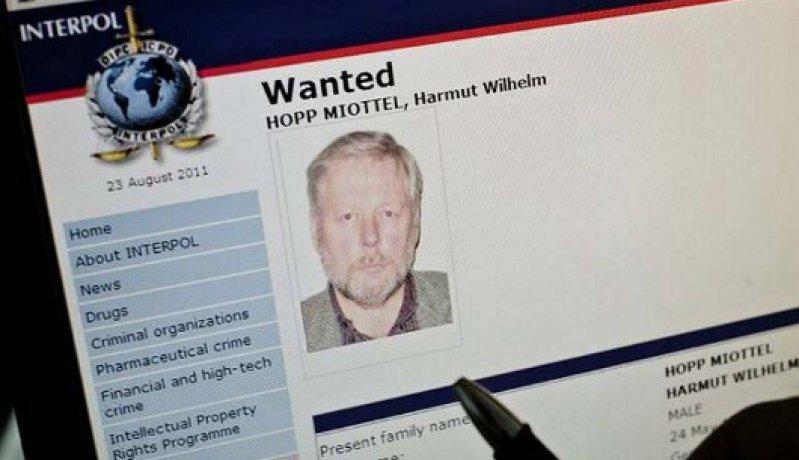 Fahndungsaufruf: Hartmut Hopp wird mit internationalem Haftbefehl gesucht. Foto: dpa