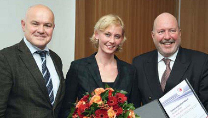 Michael Krekler, Katharina Heß und Diethelm Tschöpe (von links). Foto: K. Hertrampf/Stiftung DHD