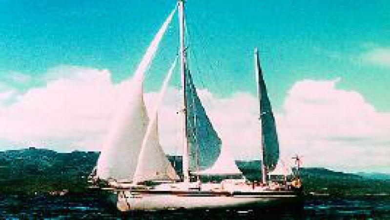 "Foto: Ina-Sailing Die ""Corvinius"" auf hoher See"