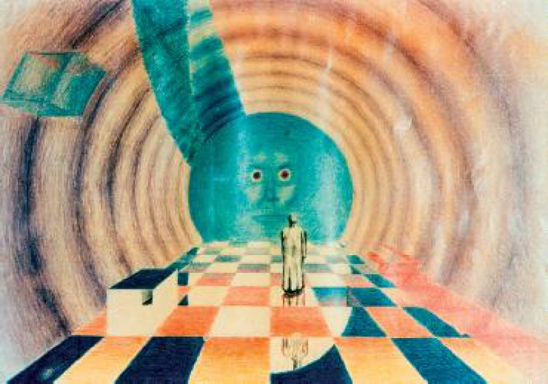 Einblick in die Seele eines Schizophrenie-Patienten, der seine Erkrankung auch mithilfe des Malens verarbeitet. Foto: Organon GmbH