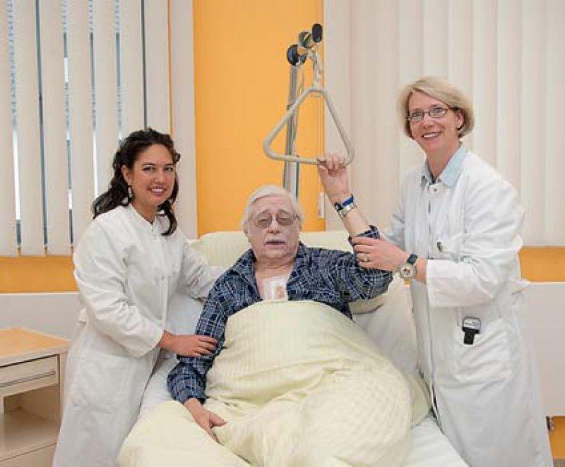 Die Simulationspatienten stellen die Krankheitsbilder authentisch und glaubhaft dar.