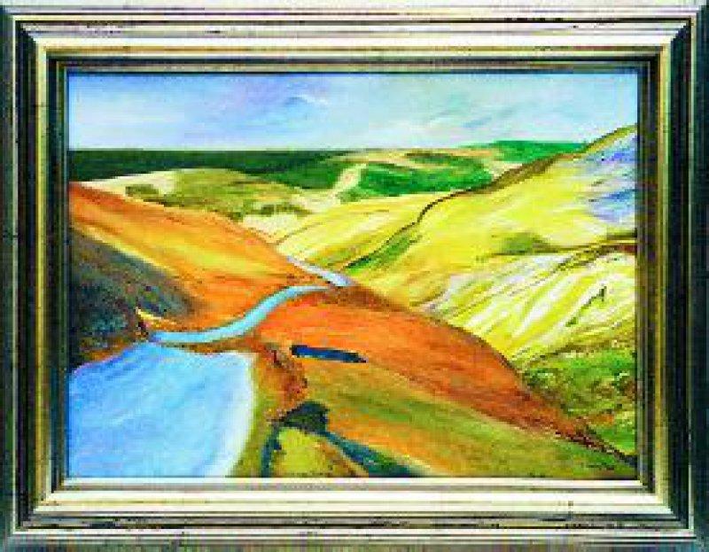 """""""Schottisches Hochland"""", Öl, 50 × 70 cm"""