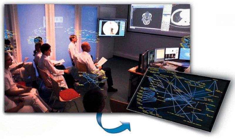 Vision: Einbezug des Patientenmodells in die ärztliche Kommunikation während eines Tumorboards. Foto: ICCAS