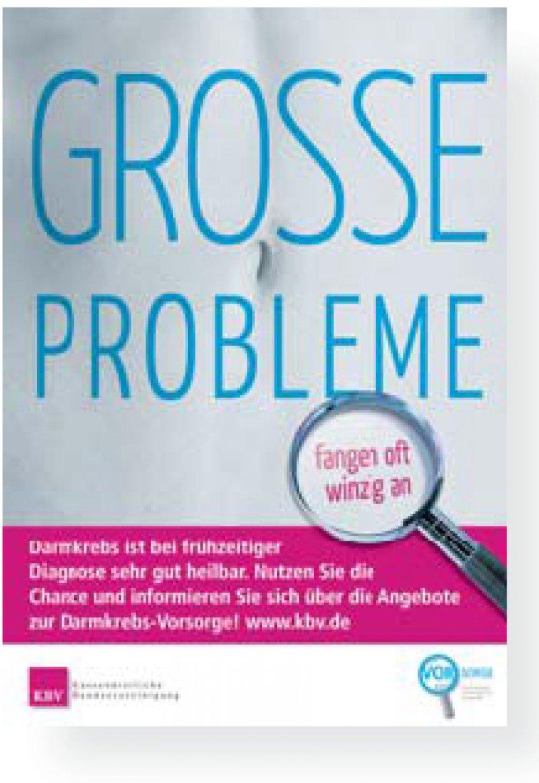 Werben für die Früherkennung: Unter www.kbv. de finden Patienten Informationen über Darmkrebs.