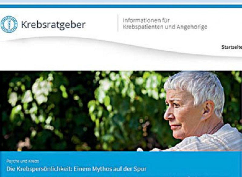 Das Onlineportal für Patienten befasst sich mit vielen verschiedenen Aspekten einer Krebserkrankung.