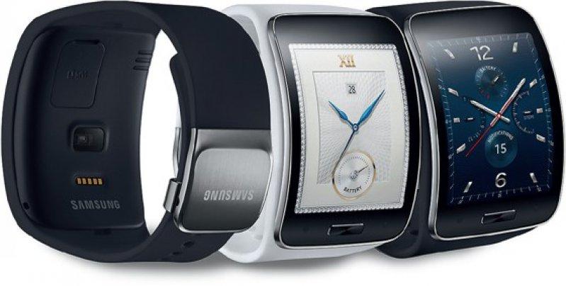 Aktivitätstracker Samsung Gear S SM-R750: Das Gerät ist ausgestattet mit 3G, WLAN und Bluetooth, außerdem verfügt es über Multisensoren, integriertes GPS und Health-Funktionen. Quelle: Samsung Electronics GmbH