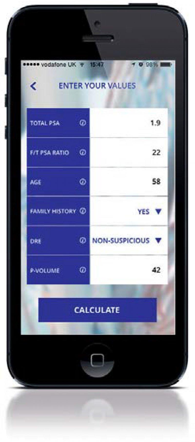 Die App berechnet die Wahrscheinlichkeit eines behandlungswürdigen Tumors in Prozent. Foto: dae [m]