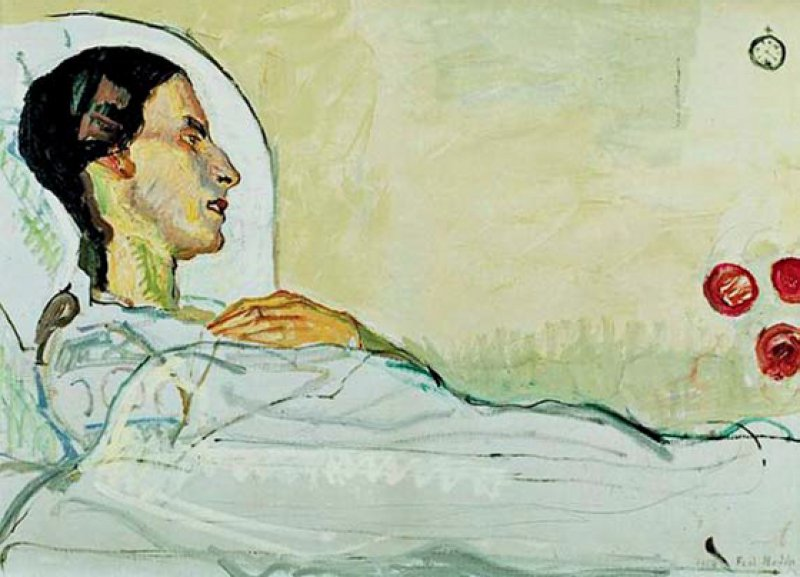 Abb. 1: Ferdinand Hodler: Die kranke Valentine Godé- Darel, 1914, Öl auf Leinwand, Kunstmuseum Solothurn, Dübi-Müller-Stiftung,