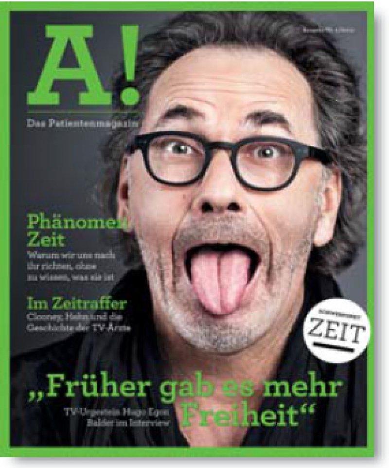 """Erscheint zweimal im Jahr: Das Patientenmagazin """"A!"""" berichtet über Aspekte ärztlichen Handelns."""