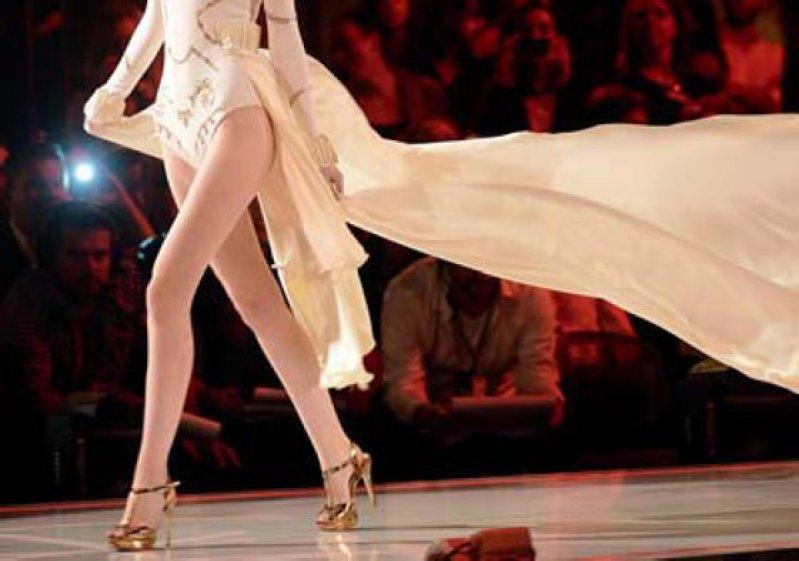 "Uberzogenes Schlankheitsideal: Catwalk bei ""Germany's Next Topmodel"" Foto: dpa"