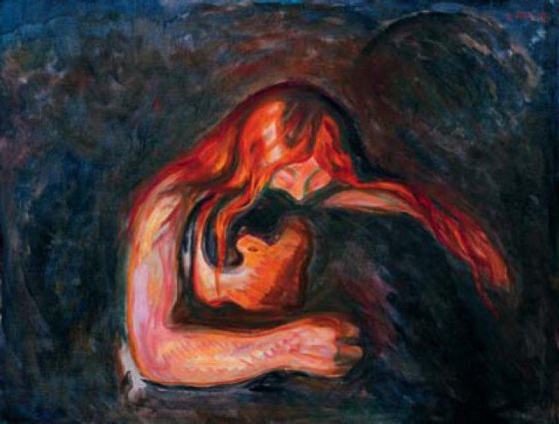 Edvard Munch: Vampir, 1917, Öl auf Leinwand, 85 × 110 cm Kunsthalle Würth, Schwäbisch Hall