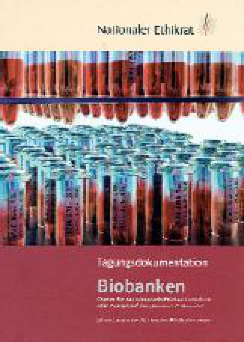 Bereits im vergangenen Jahr hat sich der Nationale Ethikrat mit dem Thema Biobanken beschäftigt (DÄ, Heft 45/2002). Der Tagungsband liegt jetzt vor (E-Mail: kontakt@ethikrat.org).