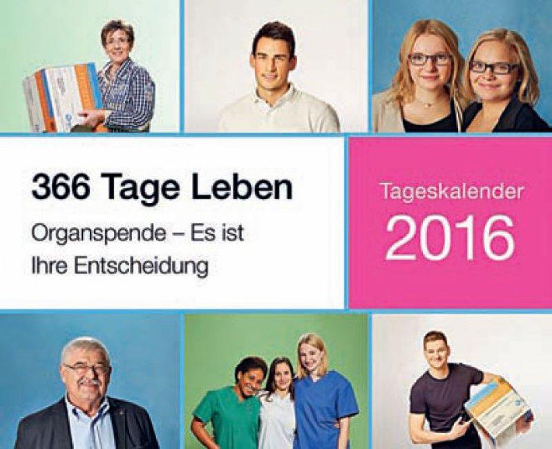 Im Kalender kommen sowohl Transplantierte selbst als auch Angehörige und Freunde von Organspendern zu Wort.