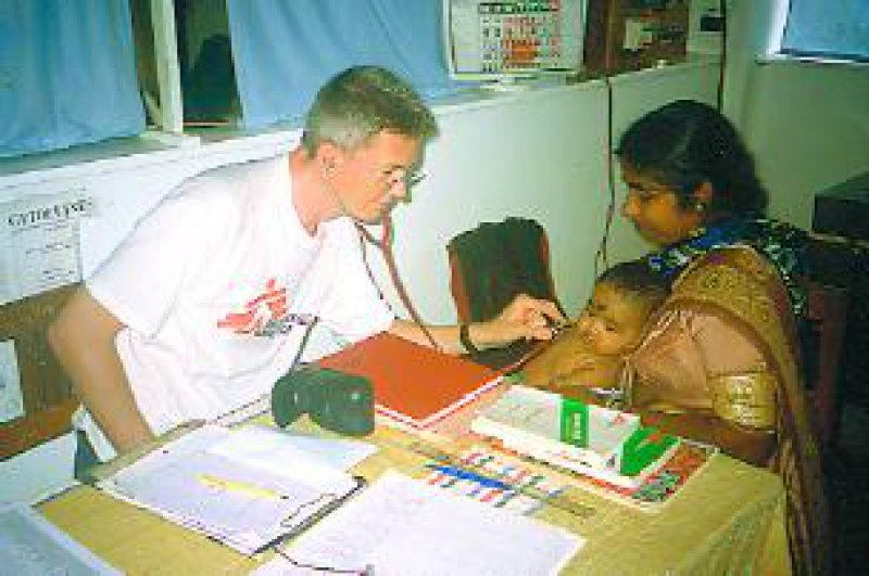 """""""Ärzte ohne Grenzen"""" war lange Zeit als einzige Nichtregierungsorganisation im Tamilengebiet aktiv. Foto: privat"""