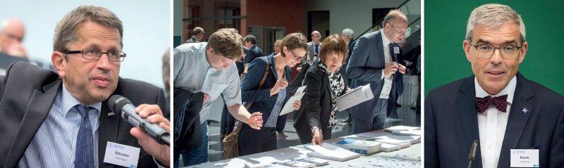Überraschend viele Vertreter der medizinischen Fakultäten nahmen am diesjährigen Medizinischen Fakultätentag in Würzburg teil, den unter anderem MFT-Präsident Heyo K. Kroemer (links) und der Würzburger Dekan Matthias Frosch (rechts) leiteten. Foto: MFT/Sablotny