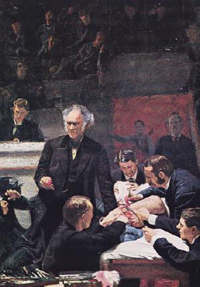 The Gross Clinic, Gemälde von Thomas Eakins (1844 bis 1916), 1875, Philadelphia, Jefferson Medical College: Hymne auf die Wissenschaft Abbildungen (2): picture-alliance/akg-