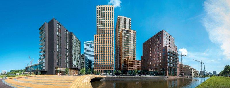 Neuer Sitz, alte Anmutung: Das Amsterdamer Finanz- und Geschäftsviertel Zuidas erinnert an den alten Standort der EMA im Londoner Stadtteil Canary Wharf. Foto: picture alliance